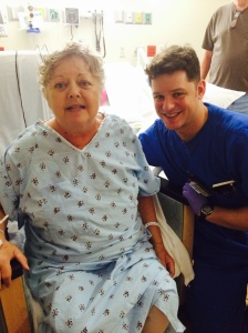 Mommy, on release day from her brain surgery. I never look this good in the hospital!